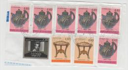 Frankreich 001/ Fragment Mit 9 Marken 1994 - Frankreich