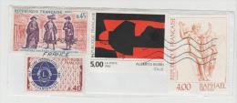 Frankreich  021 /  Fragment Mit 4,  Marken, Alberto Burri Etc, - Frankreich
