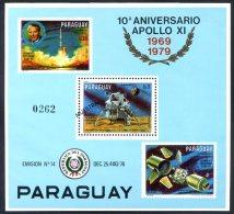 PARAGUAY - SPACE - COSMOS Mi # Bl 354 SPECIMEN VF - Paraguay