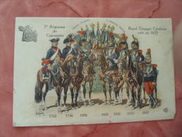 7 Eme Regiment Cuirassiers Royal Etranger Cavalerie Illustrateur - Reggimenti