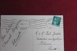 DEPART     ORLEANS  1937 POUR PITHIVIERS LOIRET - Marcophilie (Lettres)