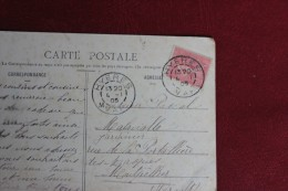 DEPART    HYPERES VAR 1907 POUR MONTPELLIER - Marcophilie (Lettres)