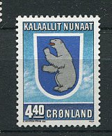 (cl 6 - P.24)  Groënland ** N° 184 (ref. Michel Au Dos) - Ours  Polaire  - - Ongebruikt