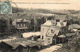 CPA - Le HOULME (76) - Aspect De La Gare Et L'Hôtel De La Gare De Malaunay En 1900 - Other Municipalities