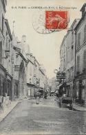 CARTE POSTALE ORIGINALE ANCIENNE : CORBEIL ; LA RUE SAINT SPIRE ; ANIMEE ; ESSONNE (91) - Corbeil Essonnes