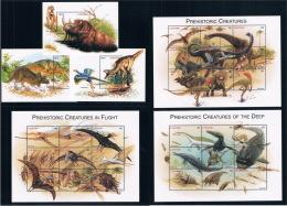 Lesotho 1998 Dinosaur Prehistoric Animal Stamps 3MS + 2M New 0210 - Lesotho (1966-...)