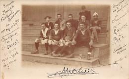 LE MANS - Carte-Photo De L'Equipe De Football Du 117e Régiment D'Infanterie Championne De L'Ouest 1911-12 Prise à Paris - Francia