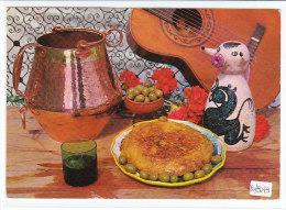 PO8079# RICETTE TIPICHE GASTRONOMIA - SPAGNA - OMELETTE Alla SPAGNOLA - CHITARRA - PENTOLA RAME  No VG - Ricette Di Cucina