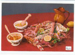 PO8083# RICETTE TIPICHE GASTRONOMIA - SPAGNA - PIATTO Di PESCE Con SALSE  No VG - Ricette Di Cucina