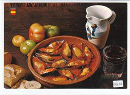 PO8084# RICETTE TIPICHE GASTRONOMIA - SPAGNA - COZZE Al SUGO - VINO - LINEA AEREA IBERIA  No VG - Ricette Di Cucina