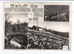 PO8228# TORINO - CASTELNUOVO NIGRA-SALE - PONTE ROMANO - CAMPI Di NARCISI  VG 1957 - Altre Città