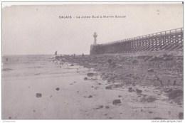 62 CALAIS  LA JETEE SUD A MAREE BASSE - Calais