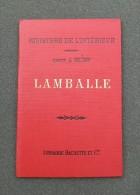 Carte Ancienne D´état Major – Hachette Et Ministère De L´Intérieur - Lamballe Et Ses Environs - Maps/Atlas