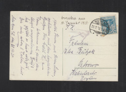 Germany PC 1920 Muskau To Ostrowa Censor - ....-1919 Provisional Government