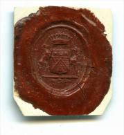 CACHET HISTORIQUE EN CIRE  - Sigillographie - SCEAUX - 173 De Seré - Seals