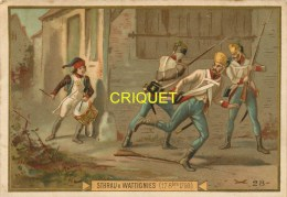 Chromo Dorée, Révolution Française, Le Tambour Sthrau à Wattignies, 17 Octobre 1793 - Chromos