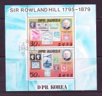 COREE DU NORD 1980  FEUILLET:R.HILL  YVERT N�1571/72 CTO