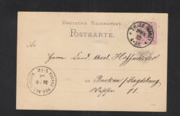 Dt. Reich GSK 1882 Thale Nach Buckau Reg. Bez. Magdeb - Briefe U. Dokumente
