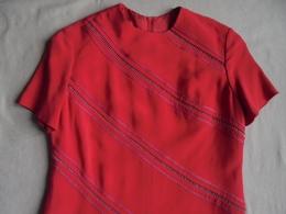 Vintage - Robe Rouge 100 % Rayonne T 38 Années 70 - Vintage Clothes & Linen