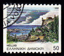 GREECE - Scott #1753a Capitals Of Prefectures, Zakinthos 'Perf. 10 ½ Horiz.' (*) / Used Stamp - Greece