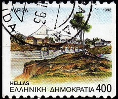 GREECE - Scott #1760a Capitals Of Prefectures, Larissa 'Perf. 10 ½ Horiz' (*) / Used Stamp - Greece