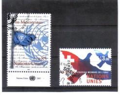 KPÖ440  UNO GENF 2002/03  MICHL 458 Und 481 Used / Gestempelt - Genf - Büro Der Vereinten Nationen