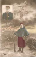 MILITARIA Patriotique - Guerre 14/1/8 écrite 1915 Troupe Africaine - Patriotiques