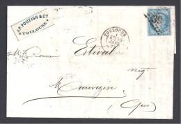 Haute Garonne - TOULOUSE - Lettre Avec étiquette  J.P. Poueigh & Cie  ( 2 Scans ) - Postmark Collection (Covers)