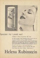 # HELENA RUBINSTEIN ROUGE & MAKE UP, ITALY 1950s Advert Pubblicità Publicitè Reklame Lipstick Rossetto Lapiz Beautè - Parfums & Beauté