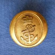 Bouton D´Officier De La Marine Anglaise XIXème - Buttons