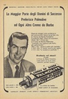 # PALMOLIVE SHAVING CREAM, ITALY 1950s Advert Pubblicità Publicitè Reklame Crema Barba Afeitar Creme Rasage Rasierschaum - Unclassified