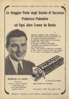 # PALMOLIVE SHAVING CREAM, ITALY 1950s Advert Pubblicità Publicitè Reklame Crema Barba Afeitar Creme Rasage Rasierschaum - Sin Clasificación