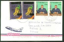 COVER DEMOCRATIC CONGO TO SWITZERLAND (KINSHASA 12 TO BIEL/BIENNE 25.08.2002) DINOSAURS JOSEPH KABILA - Covers