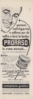 # PRORASO SHAVING CREAM, ITALY 1950s Advert Pubblicità Publicitè Reklame Crema Barba Afeitar Creme Rasage Rasierschaum - Sin Clasificación