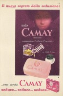 # CAMAY SOAP PROCTER & GAMBLE, ITALY 1950s Advert Pubblicità Publicitè Reklame Sapone Savon Jabon Seife - Perfume & Beauty
