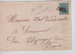 TP 141 S/L. Griffe Bilingue Flobecq-Floesberg V. France C.d'arrivée Au Verso PR2210 - Postmark Collection