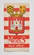 MONS Ville D´Art Et De Tourisme - Dépliant Touristique Des Années 1950 - Dépliants Touristiques