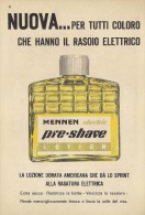 # MENNEN PRE.SHAVE,  ITALY 1950s Advert Pubblicità Publicitè Reklame Lotion Lozione Barba - Parfums & Beauté