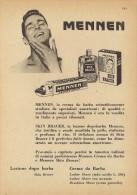 # MENNEN SKIN BRACER,  ITALY 1950s Advert Pubblicità Publicitè Reklame Lotion Lozione Cream Crema Barba - Unclassified