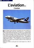 1 PETIT GUIDE NEUF L'AVIATION  POURQUOI ET COMMENT UN AVION PEUT VOLER... LIVRET N° 188 ED. AEDIS 8 PAGES - Avion