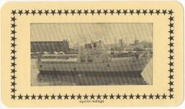 Carte Publicité Bateau.Horaire/Time Table. Cruceros Atlas. Aguilar-Malaga. 1964. - Europe