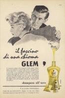 # GLEM TESTANERA SCHWARZKOPF EGG SHAMPOO, ITALY 1950s Advert Pubblicità Publicitè Reklame Hair Cheveux Haar Beautè Oeuf - Sin Clasificación