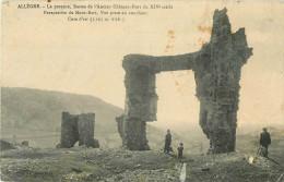 43 - Allègre - Cpa Animée - La Potence - Restes De L´Ancien Château Fort  - Haute Loire - Voir 2 Scans; - Non Classés