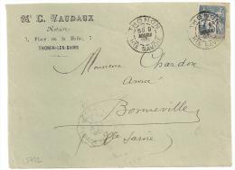 Bloc Dateur Mixte, THONON Haute Savoie Sur Devant SAGE, VAUDAUX Notaire. - Marcophilie (Lettres)