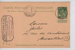Entier CP 5 C Lion C.Lede 17/4/1913 + C.Publicitaire Verschelden Frères Gde Chemiserie De Lede PR2215 - Stamped Stationery