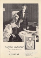 # ATKINSONS ENGLISH LAVENDER 1950s Italy Advert Pubblicità Publicitè Reklame Parfum Perfume Profumo Cosmetics - Sin Clasificación