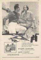 # ATKINSONS ENGLISH LAVENDER 1950s Italy Advert Pubblicità Publicitè Reklame Parfum Perfume Profumo Cosmetics Voile - Perfume & Beauty