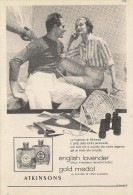 # ATKINSONS ENGLISH LAVENDER 1950s Italy Advert Pubblicità Publicitè Reklame Parfum Perfume Profumo Cosmetics Voile - Sin Clasificación