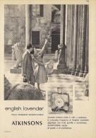 # ATKINSONS ENGLISH LAVENDER 1950s Italy Advert Pubblicità Publicitè Reklame Parfum Perfume Profumo Cosmetics Tourist - Perfume & Beauty