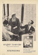# ATKINSONS ENGLISH LAVENDER 1950s Italy Advert Pubblicità Publicitè Parfum Perfume Profumo Cosmetics Boat Venice Venise - Profumi & Bellezza